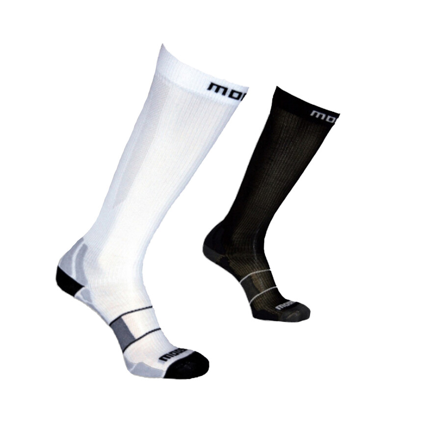 MOOSE COMPRESS ONE Profi Kompressionssocken, Strümpfe Sportsocken Silberfaser