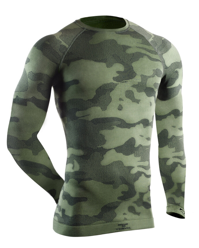 TERVEL TACTICAL LIGHT Herren Funktionsshirt langarm, geruchshemmend