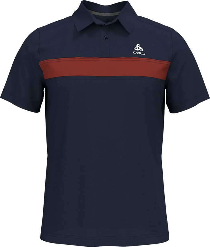 Odlo NIKKO LIGHT Poloshirt Herren Laufshirt Polo Shirt, diving navy - chili oil