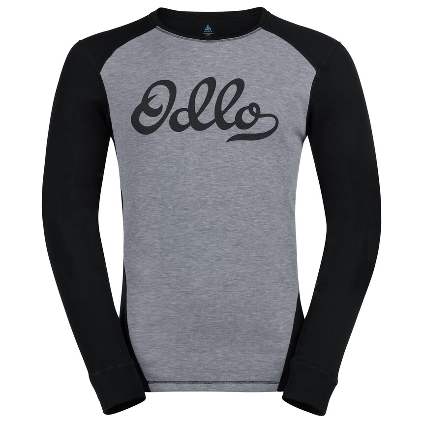 ODLO WARM ORIGINALS Herren Funktionswäsche Set, Grey Melange - Black