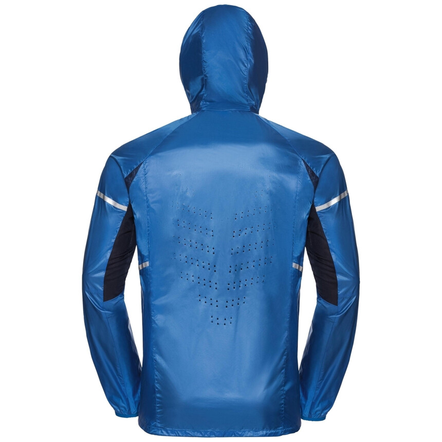 ODLO ZEROWEIGHT PRO Herren Laufjacke, Windstopper, winddichte Jacke, energy blue
