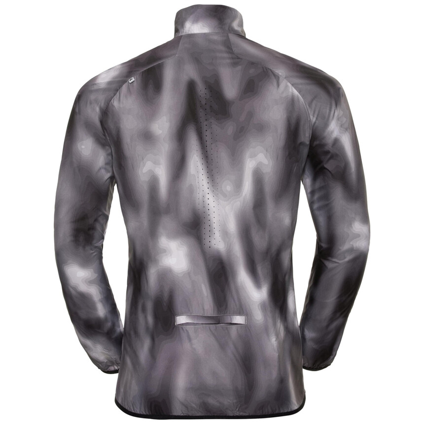 ODLO OMNIUS LIGHT Herren Laufjacke, Windstopper, winddichte Jacke, concrete grey