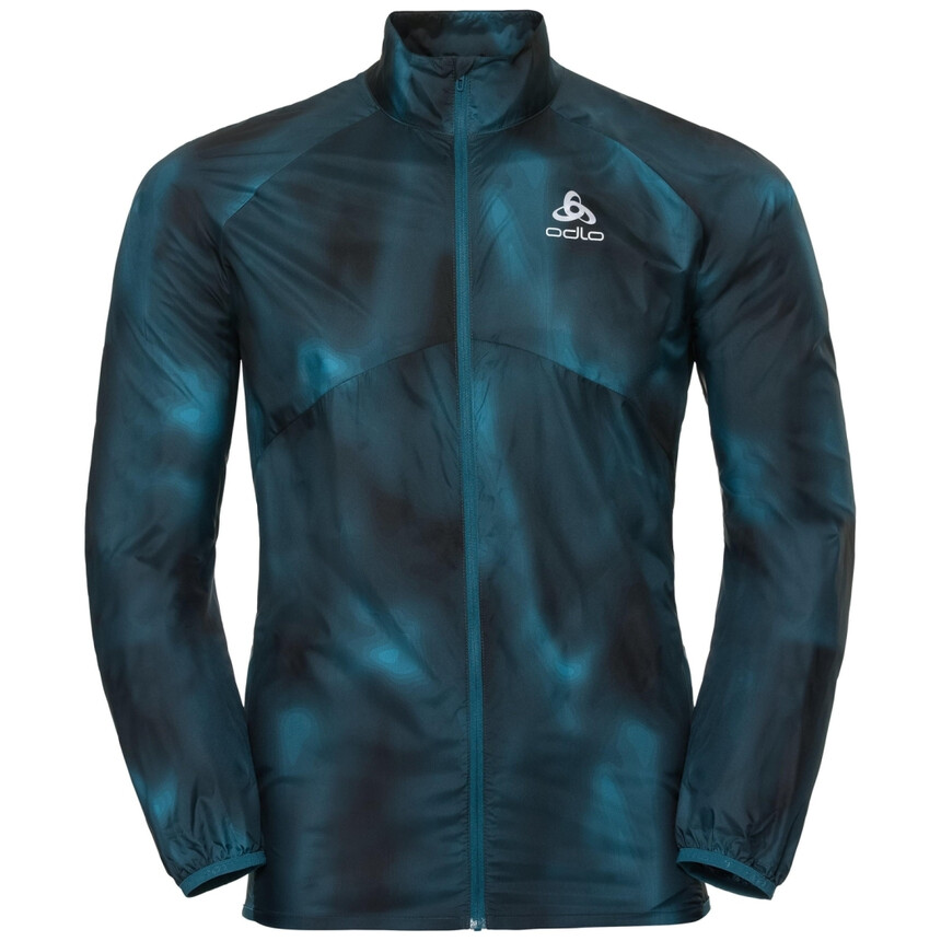 ODLO OMNIUS LIGHT Herren Laufjacke, Windstopper, winddichte Jacke, blue coral